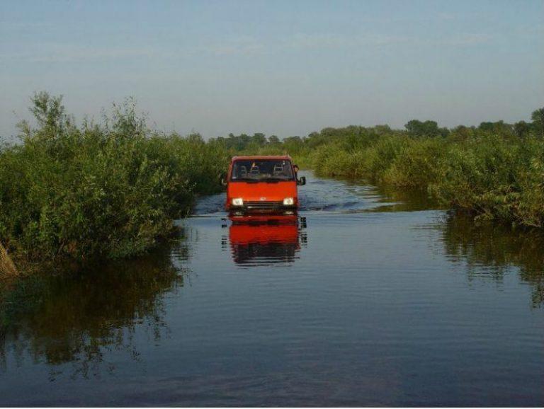 powódź nad biebrzą